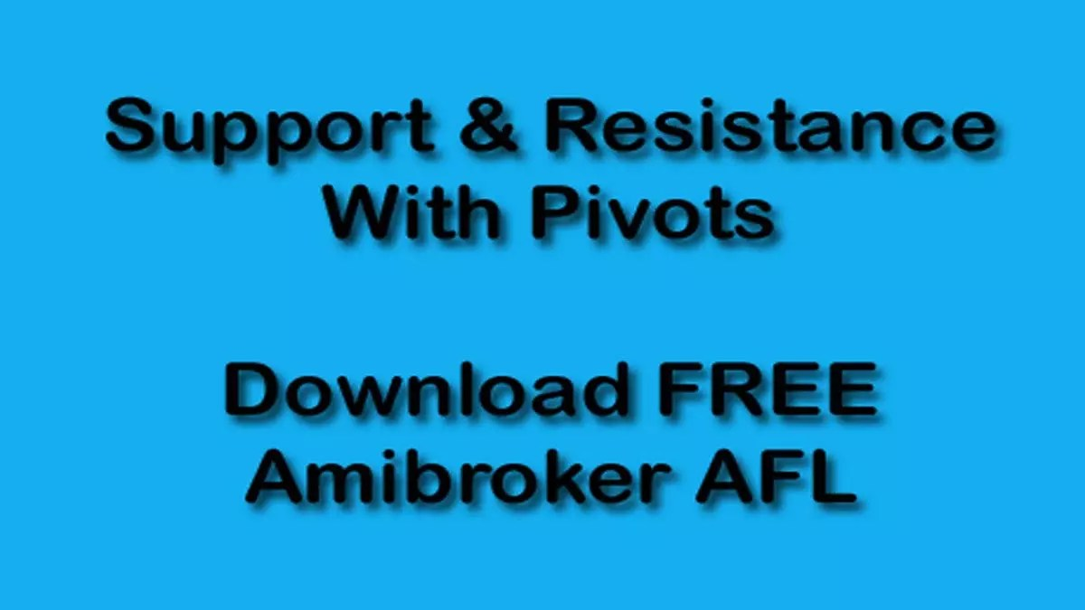 Amibroker AFL Code S&R With Pivots Download Link