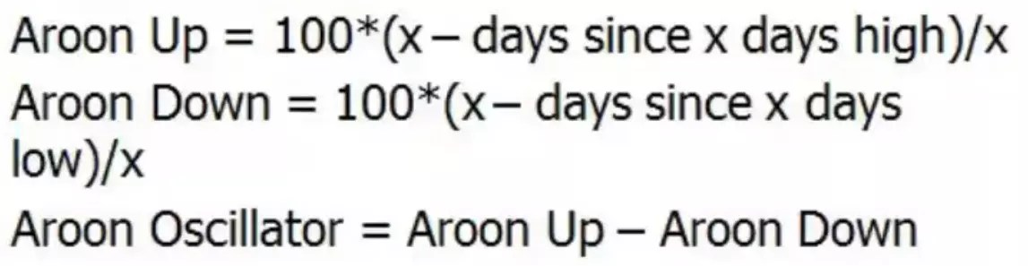 Aroon Oscillator Formula and Calculation