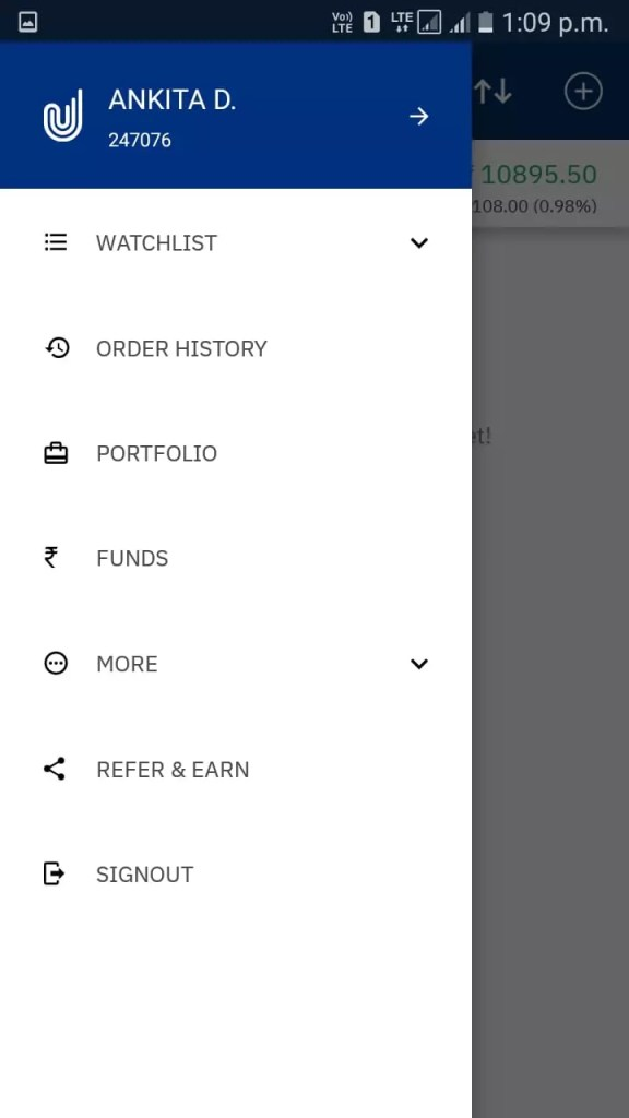 Upstox Pro Total options