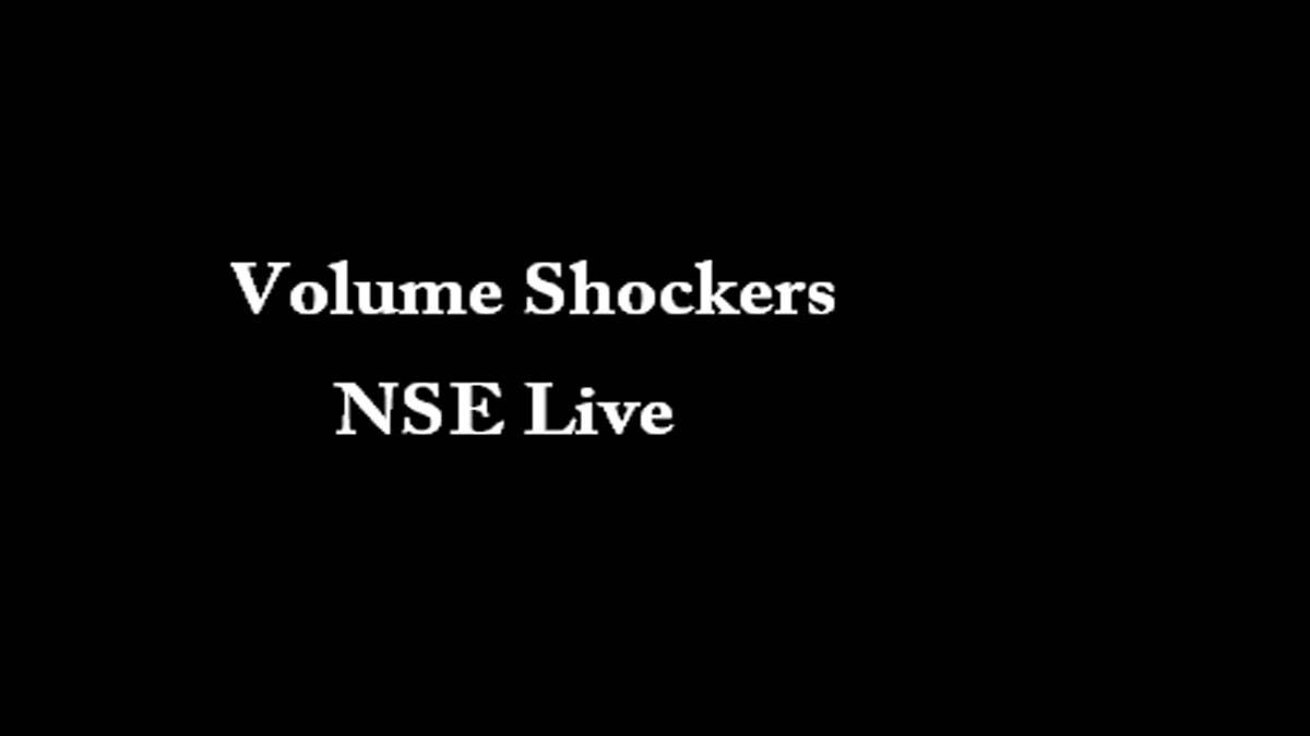 Volume Shockers NSE Live
