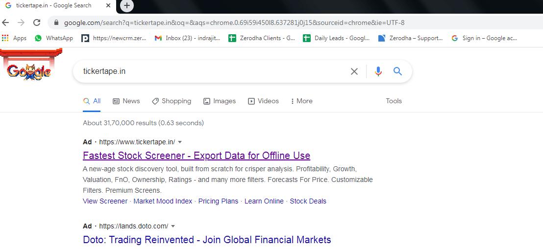 Fundamental stock screener tickertape account opening.