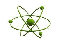 Isolated green atom on white background - Free image download