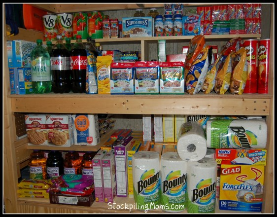 garage stockpile extreme couponing food household products