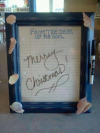 Holiday Gift Idea  DIY Dry Erase Board