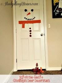 Elf on the Shelf Snowman Door Decoration