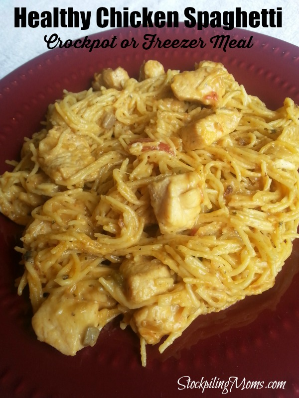 HEALTHY CHICKEN SPAGHETTI CROCKPOT FREEZER MEAL-chicken weight watchers recipes-chicken weight watchers-chicken weight watchers recipes easy-chicken weight watchers recipes crockpot-chicken weight watchers meals