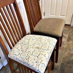 What Type Of Fabric To Cover Kitchen Chairs Dining Room Chair Cushions Replacement How Redo The On Save