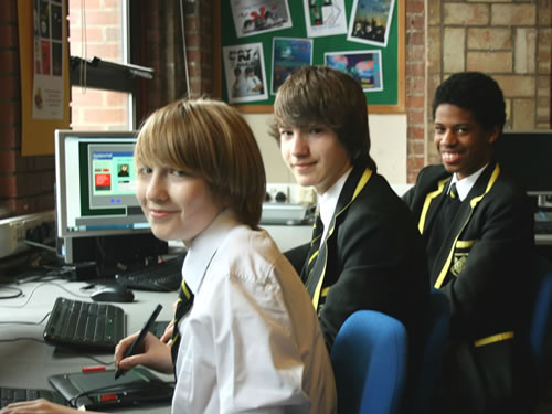 Pupils preparing entries for Animation11 competition