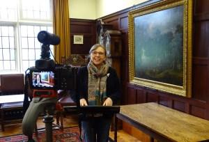 Mrs Lawson talking to camera