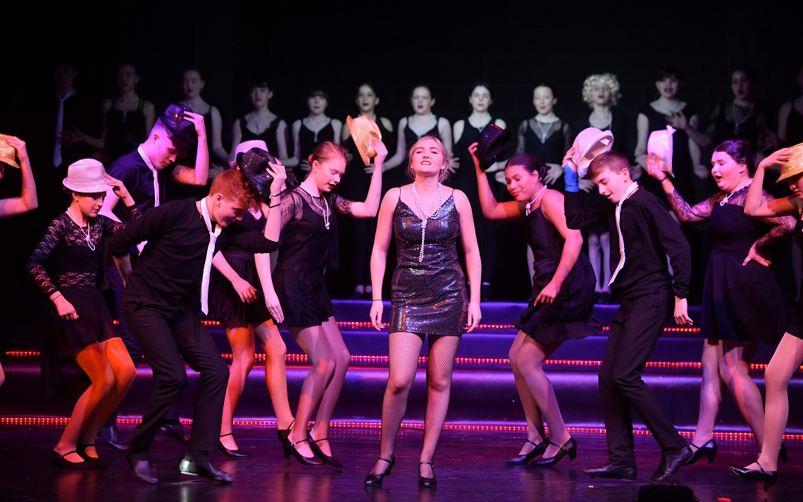Pupils dazzle during a production of Chicago