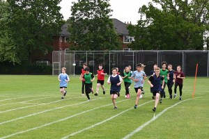 Third Years take part in a race