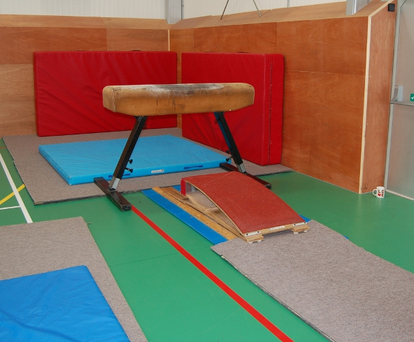 We have a vaulting set up. Currently we use coaching blocks for the younger gymnasts