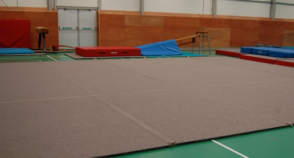 We have a matted exercise floor area