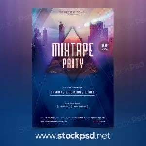 mixtape-party-free-psd-flyer-template
