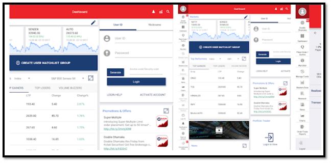 Kotak Stock Trader App For Tablet Login Screen