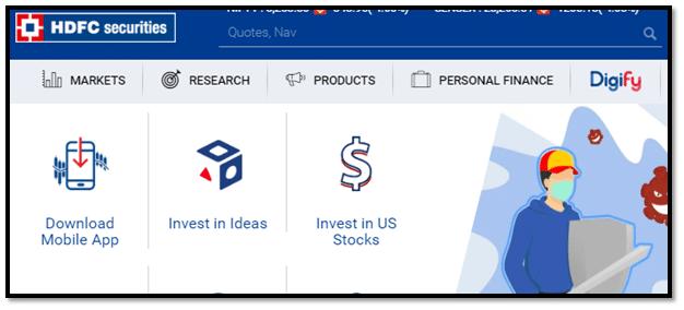 HDFC Securities Screenshot