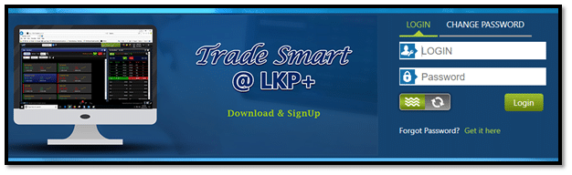 LKP Securities TRADE SMART @LKP blue Web Login