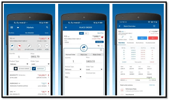 Angel Broking App Interface