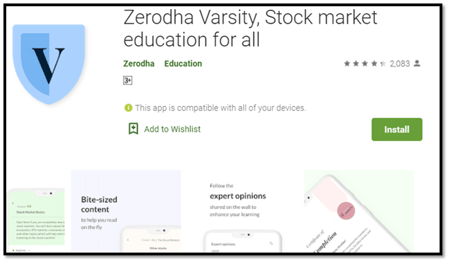 Zerodha Varsity Eduction App
