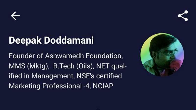 Profile of Deepak Doddamani on Unacademy