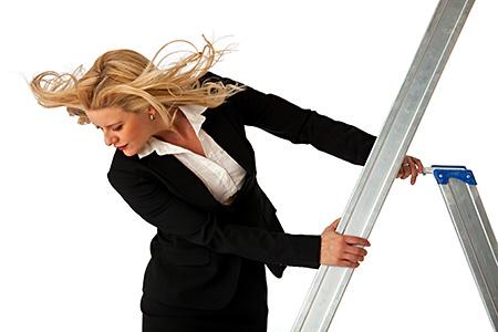 Jaana on the ladder