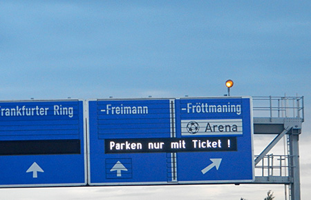Autobahn während Bayern - Chelsea