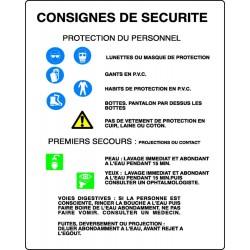 Panneau Consignes De Scurit Stocksignes