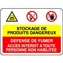 Panneau Stockage De Produits Dangereux Stocksignes
