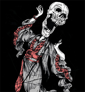 Dancing Devil Skull Man Vector T-shirt Design