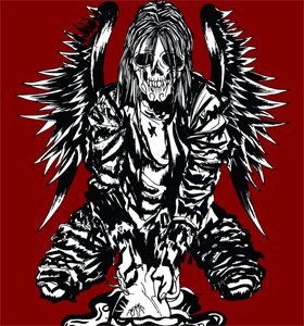 Winged Horror Man Vector T-shirt Design