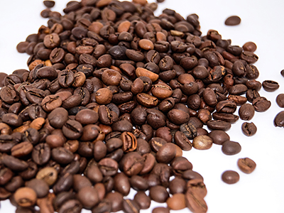 whole beans of coffee