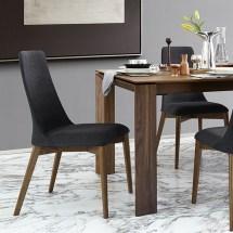Calligaris Etoile Denver Fabric & Wooden Chair