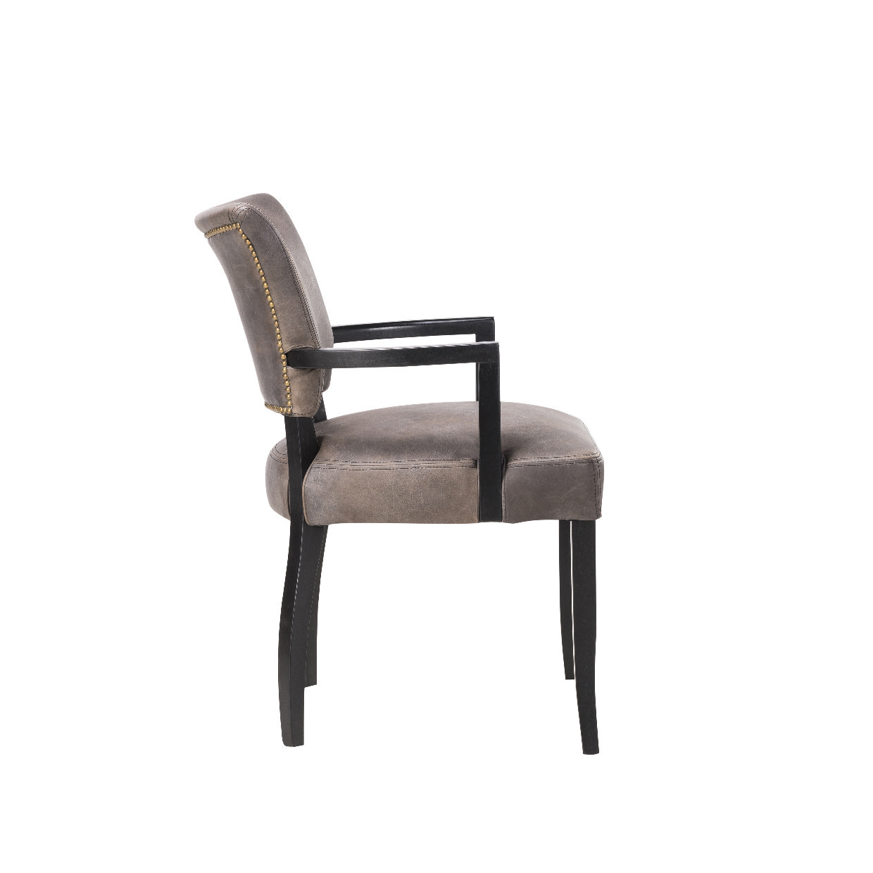 chair with arms red leather side timothy oulton mimi dining black oak legs