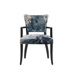 Chair With Arms Barrel Swivel Timothy Oulton Mimi Dining Black Oak Legs