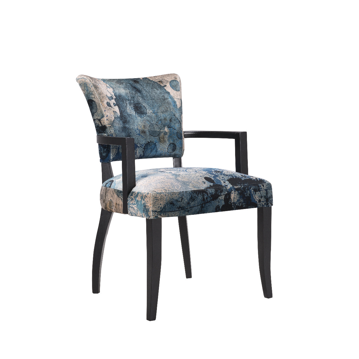 Timothy Oulton Mimi Dining Chair with Arms  Black Oak