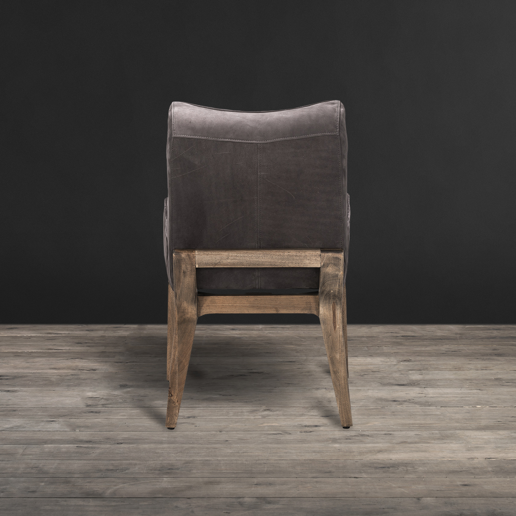 grey leather recliner chair uk office lumbar support cushion timothy oulton creek dining