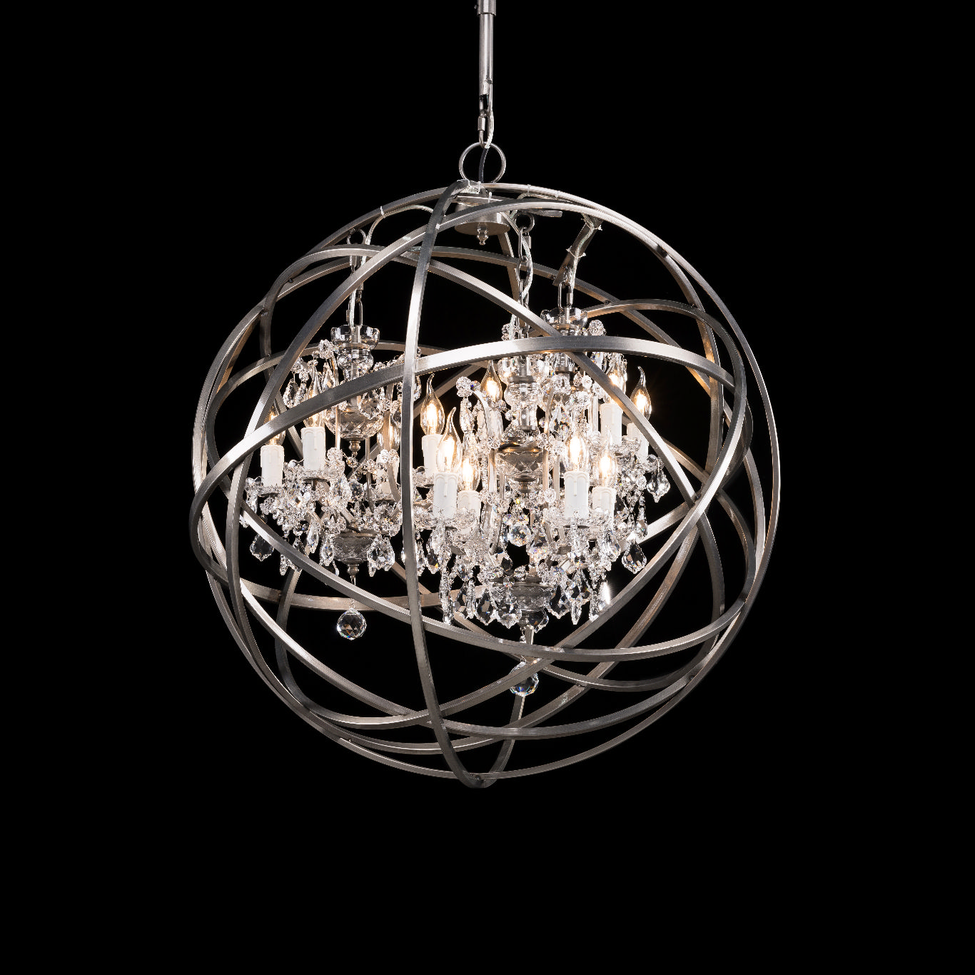 Timothy Oulton Orb Crystal Chandelier