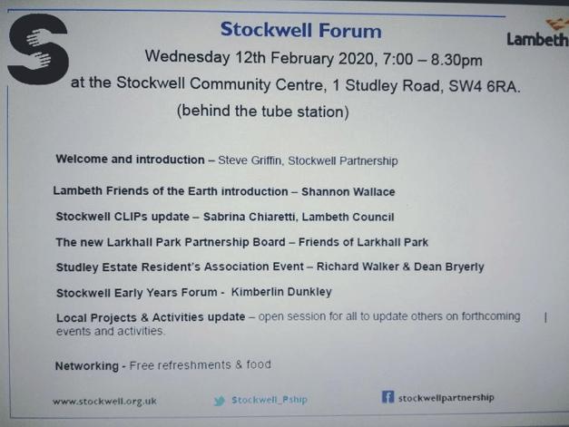 Stockwell Forum 12.2.20