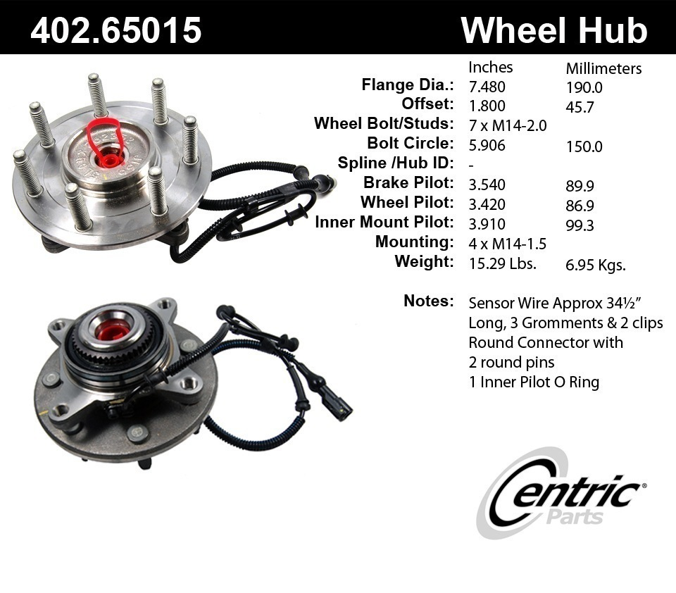 2007 Ford F-150 Axle Bearing and Hub Assembly