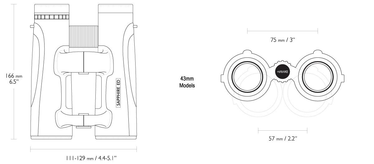 Hawke Optics Sapphire ED Binocular