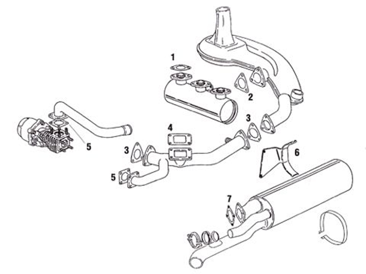 Porsche 911 930 Turbo 1976-1979 Heat Exchangers and Exhaust