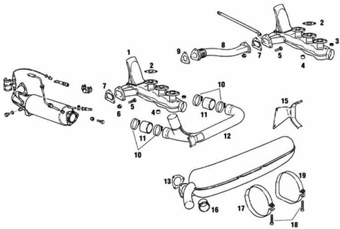 Porsche 911 Carrera 1984-1989 Heat Exchangers and Exhaust