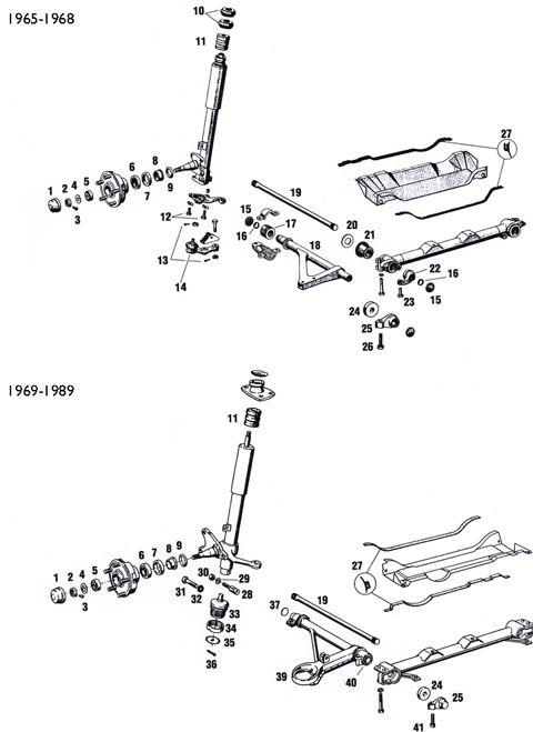 Porsche 911 Front Suspension Components, Control Arms