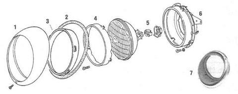 Porsche 911 Headlight and Headlight Parts Including Trim