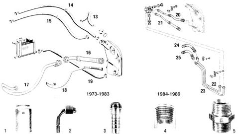 Porsche 911SC and 930 Turbo Oil Hose Lines and Fittings 2