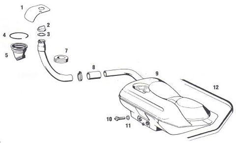 Porsche 911 Gas Tank and Fuel Filler Parts