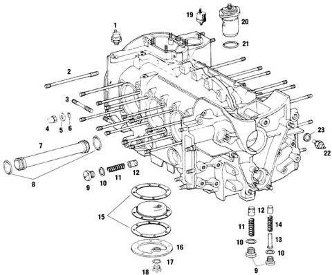 Porsche 911 Engine Crankcase Case Parts and Component Pieces