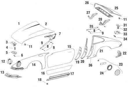 Porsche 911 Exterior Body Sheetmetal: Quarter Panels