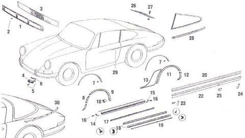 Porsche 911 Trim for Front Trunk Lid