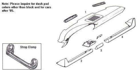 Porsche 912 Dashboards, Trim, Gloveboxes
